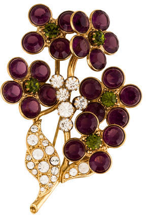 Marc JacobsMarc Jacobs Floral Crystal Pin