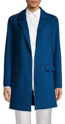 Ellen Tracy Notch-Lapel Open-Front Jacket