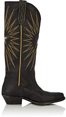 Golden Goose Women's Wish Star Distressed Leather Knee Boots