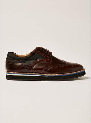 Topman Mens Red Burgundy Prism Brogues