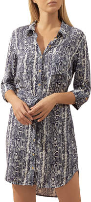 Heidi Klein Kenya Snake-Print Coverup Shirtdress