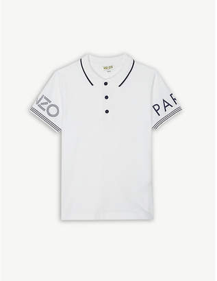 Kenzo Logo pique cotton polo shirt 4-16 years