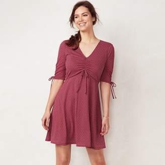 Lauren Conrad Women's Print Fit & Flare Dress