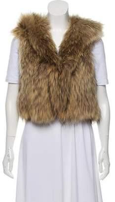 Theory Raccoon Fur Vest