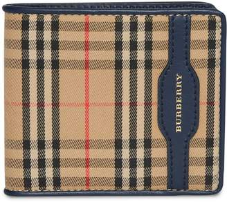 Burberry 1983 Check and Leather International Bifold Wallet