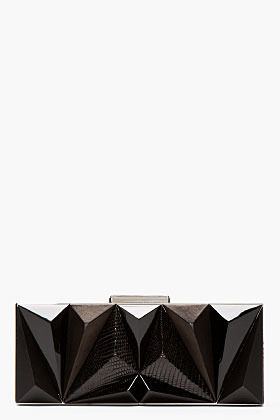 Givenchy Black leather prism Minaudiere