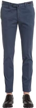 Pt01 18cm Stretch Cotton Structured Pants