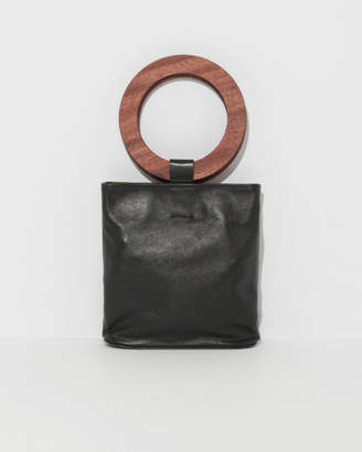 Modern Weaving Exclusive Mini Wood Handle Circle Tote