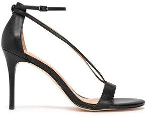 Halston Evie Metallic Leather Sandals