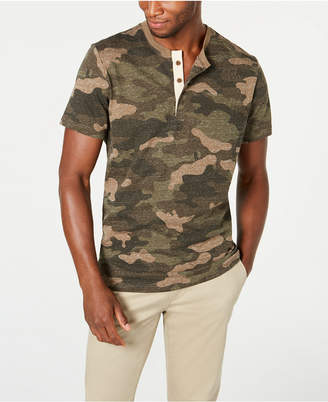American Rag Men Camo Short-Sleeve Henley