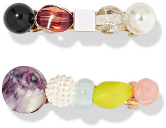 Lulu Valet Set Of Two Resin Hairclips - White