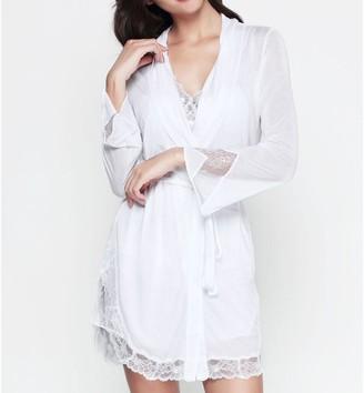 Black Label Eustoma Short Robe