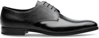 Prada Saffiano and brushed leather Oxford shoes