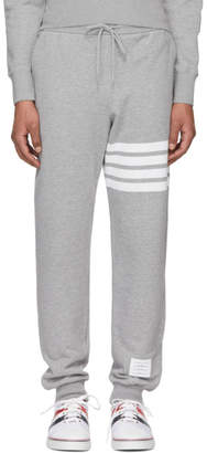 Thom Browne Grey Classic Four Bar Lounge Pants