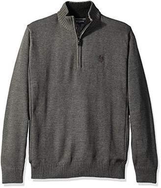 U.S. Polo Assn. Men's Solid 1/4 Zip With Side Body Rib