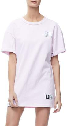 Good American Goodies Iridescent Cinched Waist Squad Tee - Pink001
