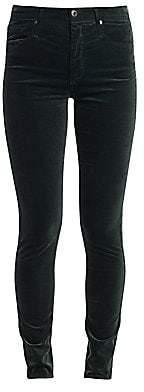 AG Jeans Women's Farrah High Rise Skinny Velvet Pants