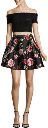 B. Darlin Bee Darlin Bee Smart Short Sleeve Party Dress-Juniors