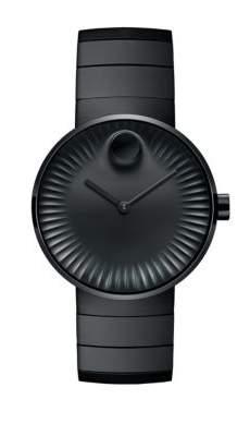 Movado Bold Edge Black-Plated Bracelet Watch