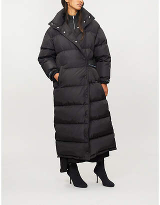 Prada Quilted shell-down overcoat
