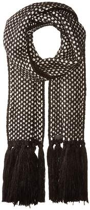 Cole Haan Chessboard Tuck Stitch Muffler Scarves
