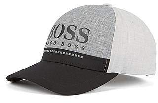 4509777c886 HUGO BOSS Rubber-print logo cap in technical melange jersey