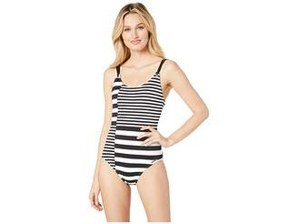 MICHAEL Michael Kors Stripe Group Strappy One-Piece
