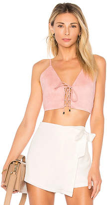by the way. Crystal Faux Suede Top