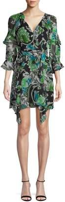 Diane von Furstenberg Floral-Print Silk Mini Dress