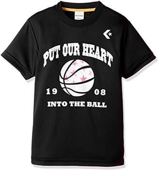 Converse (コンバース) - (コンバース) CONVERSE バスケットボールウェア プリントTシャツ 18SS CB481302 [ジュニア] CB481302 1900 ブラック 130