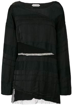 DAY Birger et Mikkelsen Giacobino sheer panel mini dress