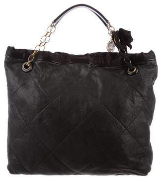 Lanvin Quilted Leather Handle Bag