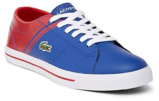 Lacoste Striped Low Top Sneaker (Little Kid & Big Kid)