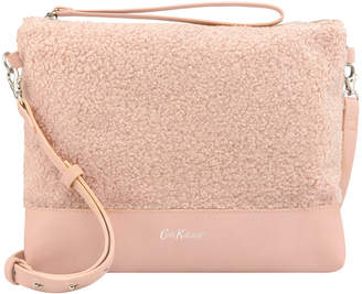 At Cath Kidston Faux Shearling Clutch Bag