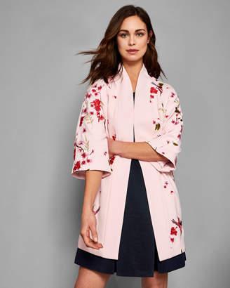Ted Baker ISOLEDE Soft Blossom embroidered kimono coat