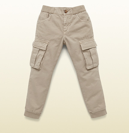 Gucci Beige Stone-Washed Cotton Cargo Pants