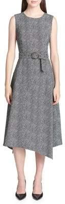 Calvin Klein Houndstooth Sleeveless Dress