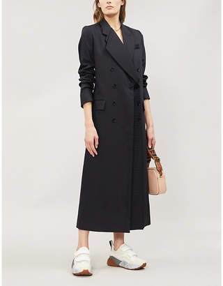 Stella McCartney Double-breasted wool and cotton-blend coat