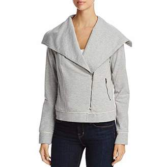 Three Dots Women's Italian Fleece Moto mid Loose Jacket