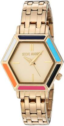 Steve Madden Women's Quartz and Alloy Casual Watch, Color:-Toned (Model: SMW015G)