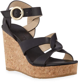 f880ec5dada Black Cork Wedge Women s Sandals - ShopStyle
