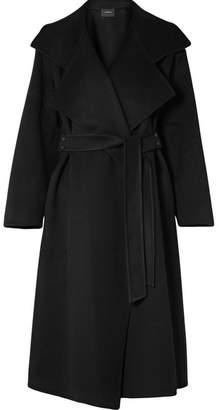 Akris Belted Cashmere Coat - Black