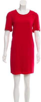 CNC Costume National Silk-Trimmed Shift Dress w/ Tags