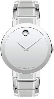 Movado Sapphire Stainless Steel Bezel-Free Bracelet Watch