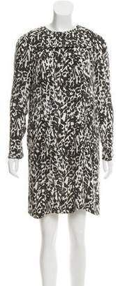 Isabel Marant Silk Long Sleeve Dress