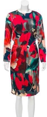 St. John Printed Silk Dress