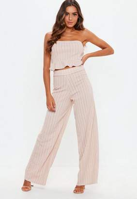 Missguided Striped Wide Leg Trousers