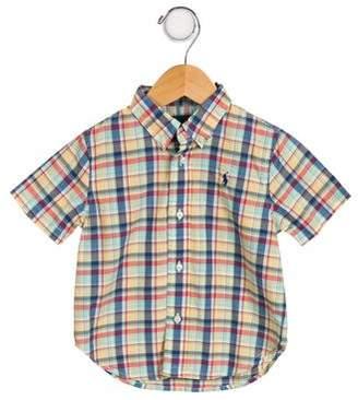 Ralph Lauren Boys' Plaid Short Sleeve Shirt