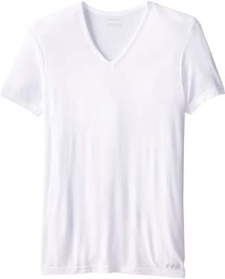 Calvin Klein Men's Micro Modal Short Sleeve V Neck T-Shirt