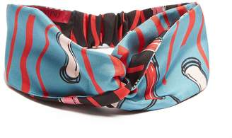 Valentino Blue lipstick print headband